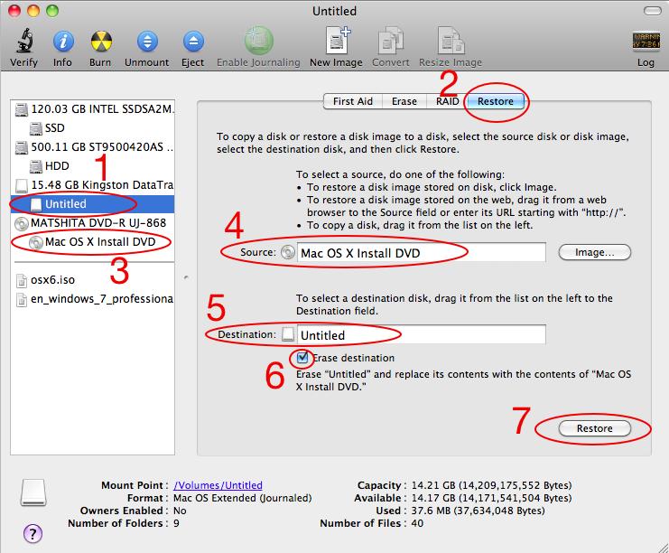 如何用 Disk Utility 将 OS X 的系统恢复/安装光盘做到 U 盘里?