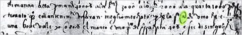 The @ symbol used in 1536 in a letter from an Italian merchant: via MoMA.jpeg